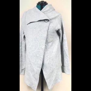 Chiaramente Gray Cardigan wrap wool sweater Small